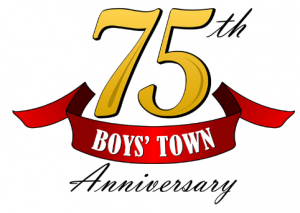 Boys Town 75th Anniversary Official Logo
